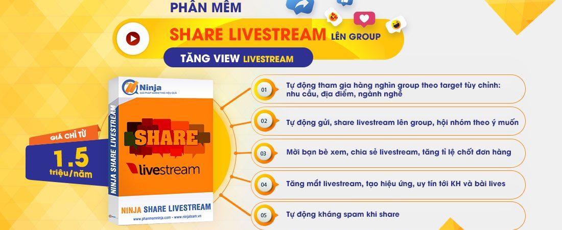 Phần mềm Share livestream