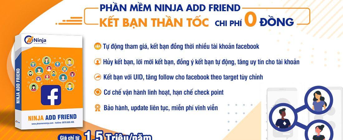 Phần mềm Ninja Add Friend